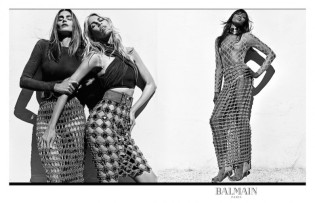 Claudia, Cindy, and Naomi for Balmain