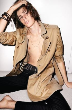 Dylan Brosnan for Burberry. So Teen Vogue!