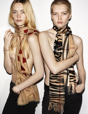 Ruth and May Bell for Burberry. Offputting.