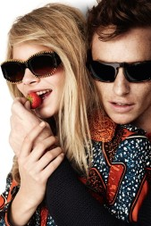 Cara and Eddie for Burberry, 2012