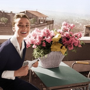 Audrey in Rome, just because